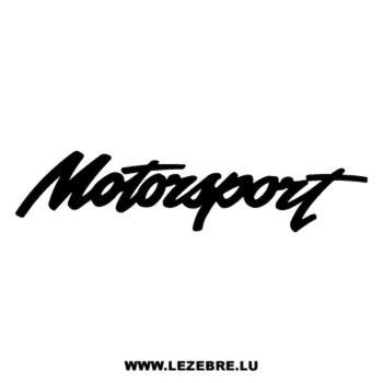 Motorsport logo Decal 2