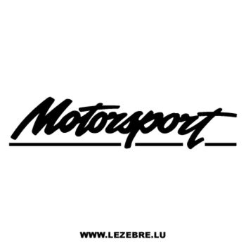 Motorsport logo Decal