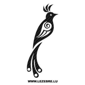 Tribal Bird Carbon Decal 2
