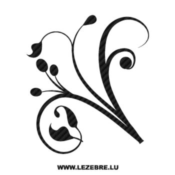 Flowers Ornament Carbon Decal