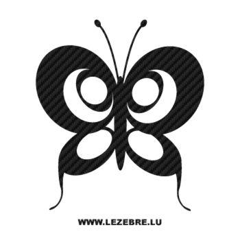Autocollant Carbone Papillon avec des Ronds