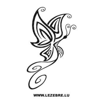 Tribal butterfly Carbon Decal