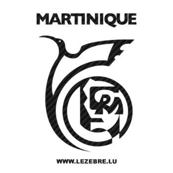 Autocollant Carbone Région Martinique