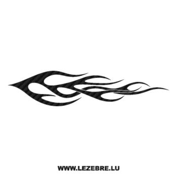 Flame Carbon Decal 115