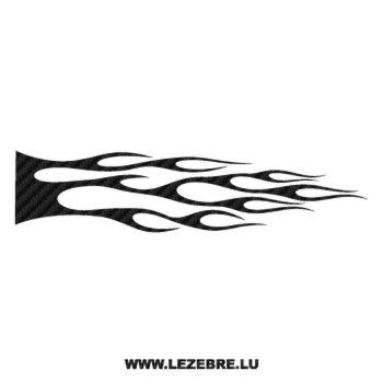 Sticker Carbone Deco Flamme 123