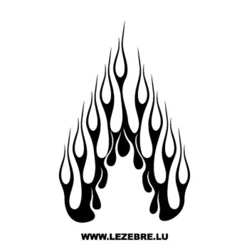 > Sticker Deco Flamme 131