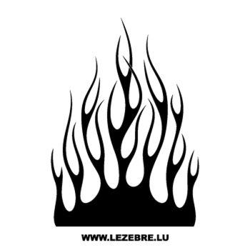 > Sticker Deco Flamme 132
