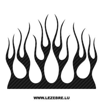 Sticker Carbone Deco Flamme 137