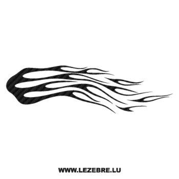 Sticker Carbone Deco Flamme 146