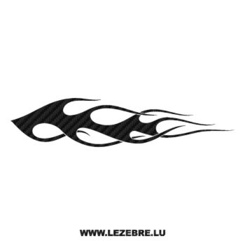 Flame Carbon Decal 152