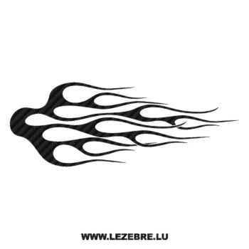 Flame Carbon Decal 61