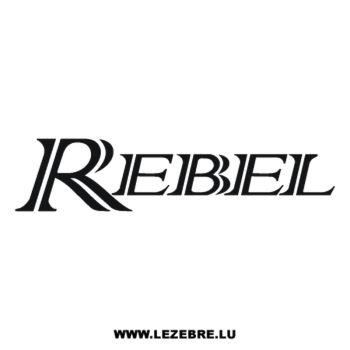 Honda Rebel Decal 2