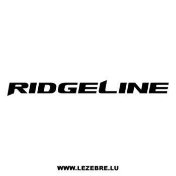 Honda Ridgeline Decal