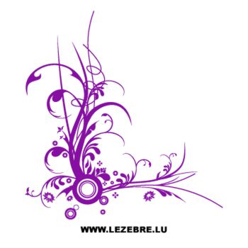 Sticker Blumen Geflecht