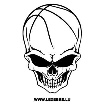 Basketball Skull Decal