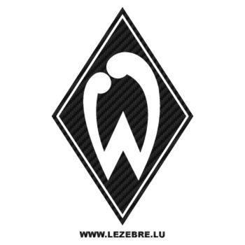 Autocollant Carbone Werder Bremen Logo