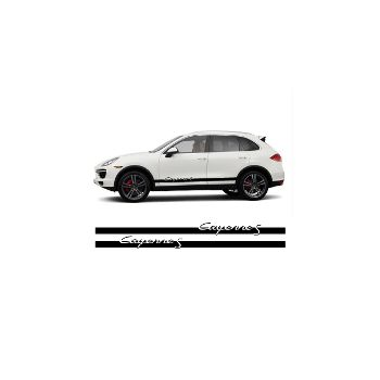Porsche Cayenne S side stripes decals set