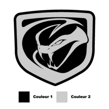 Dodge Viper 2012 logo color Decal