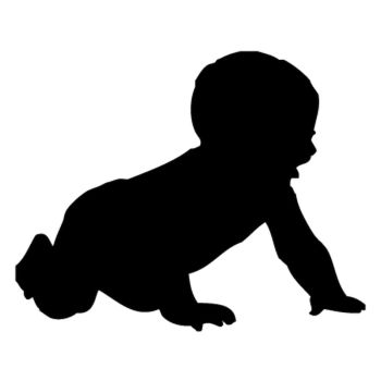 Baby crawling Decal
