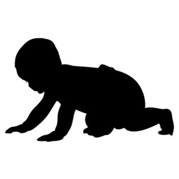 Baby crawling Decal 2