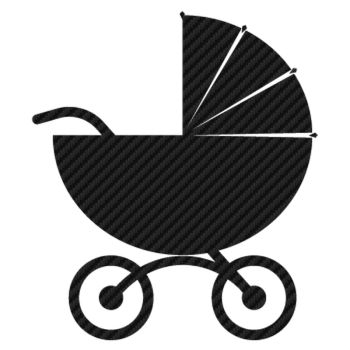 Baby stroller Carbon Decal