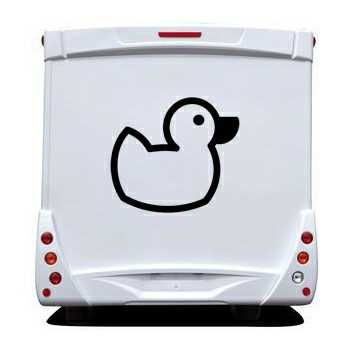 Duck Camping Car Decal