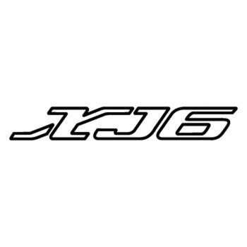Sticker Yamaha XJ6 logo contour