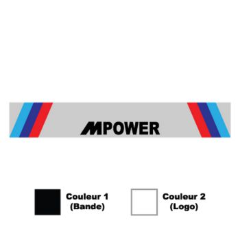 Sticker Bande Sonnenblende BMW M POWER