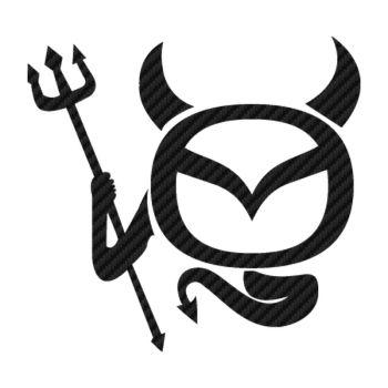 Mazda Devil Logo Carbon Decal