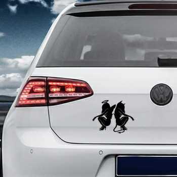 Angel and Devil Volkswagen MK Golf Decal
