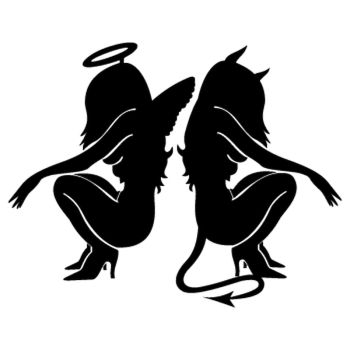 Angel and Devil Decal