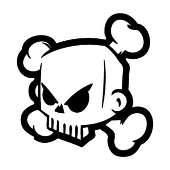 Sticker DC Shoes Ken Block Skull