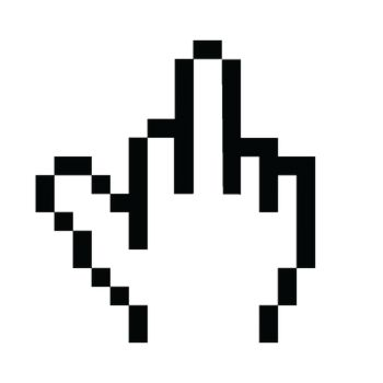 Pixel Middle Finger Geek T-shirt