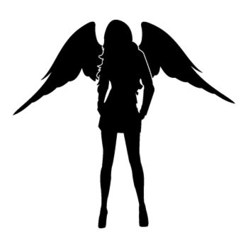 Sexy Woman Angel Decal