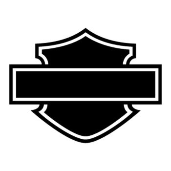 Harley Davidson Logo Silhouette Decal