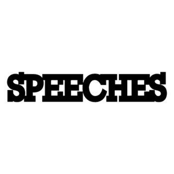 Speeches logo Decal