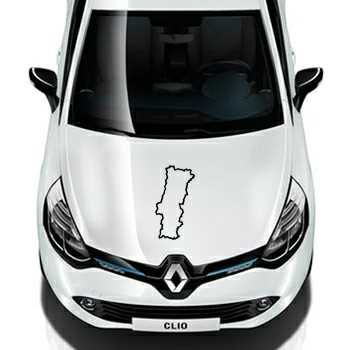 Portugal Continent Outline shape Renault Decal