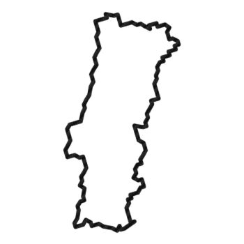 Portugal Continent Outline shape Carbon Decal