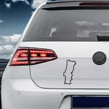 Portugal Continent Outline shape Volkswagen MK Golf Decal