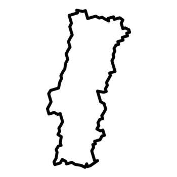 Sticker Portugal Continent Silhouette contour