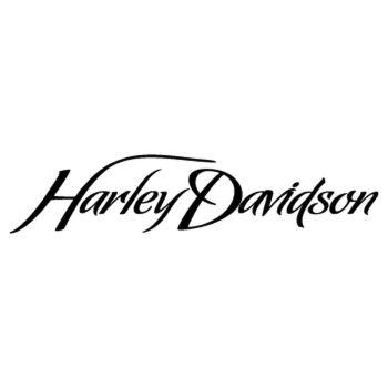 Harley Davidson Logo Script sticker model 2