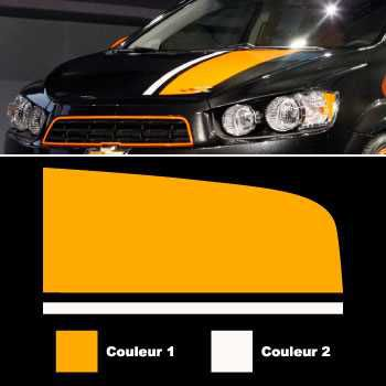 Chevrolet Sonic style Trunk stripes decals set