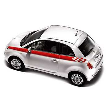 Fiat 500 Sport stripes decals set