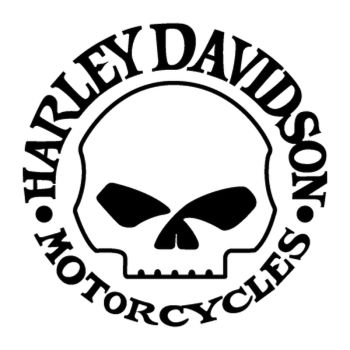 Harley Davidson Skull Decal 2nd model