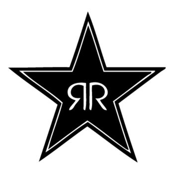 Sticker Rockstar energy drink logo