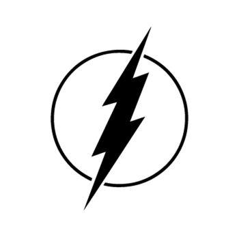 Sticker Flash Logo