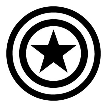 Sticker Captain America Logo