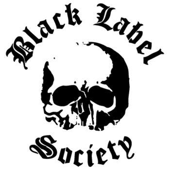 Black label skull logo Decal