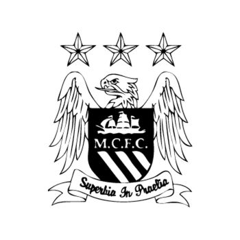 Sticker Manchester City logo