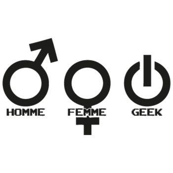 Homme Femme Geek T-shirt